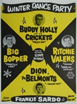 Winter Dance Party with Buddy Holly and the Big Boppper and Ritchie Valens Concert Poster