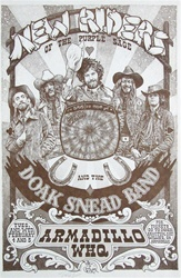 New Riders Of The Purple Sage Original Concert Poster