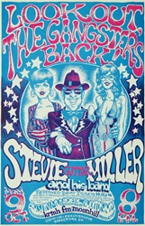 Steve Miller At The Austin Municipal Auditorium Original Concert Poster