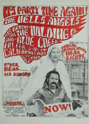 The Hells Angels Original Concert Poster