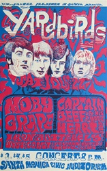 The Yardbirds At The Santa Monica Civic Auditorium Original Concert Poster