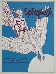 Aerosmith at Freedom Hall Original Concert Poster