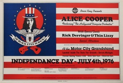 Alice Cooper With Rick Derringer And Thin Lizzy Original Concert Poster