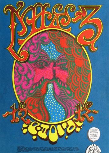 Chuck Berry Original Concert Postcard Vintage Rock Poster Rick Griffin