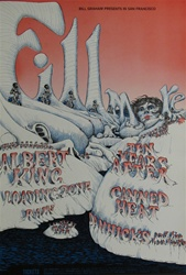 Albert King And The Loading Zone Original Concert Poster