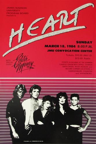 Heart And Eddie Money Original Concert Poster Vintage Rock