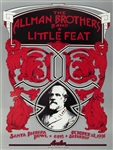 Allman Brothers and Little Feat Original Concert Poster