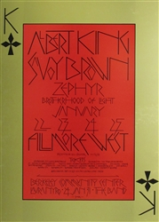 Albert King And Savoy Brown Original Concert Poster