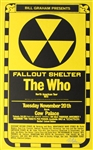 The Who Fallout Shelter Original Concert Poster