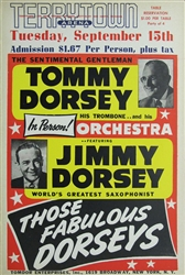 Tommy Dorsey Orchestra With Jimmy Dorsey Original Concert Poster