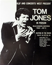 Tom Jones In Person Original Concert Poster