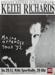 Keith Richards Main Offender Original Tour Poster