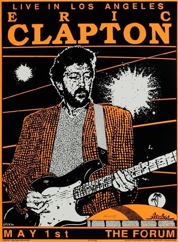 Eric Clapton Original Concert Poster Vintage Rock Concert