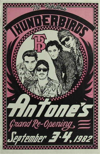 The Fabulous Thunderbirds Original Concert Poster Vintage Rock Antones