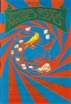 Jefferson Airplane And The Grateful Dead Original Concert Postcard