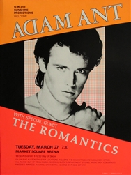 Adam Ant And The Romantics Original Concert Poster