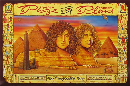 Jimmy Page And Robert Plant Original Concert Poster ...
