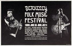 Berkeley Folk Music Festival With Jefferson Airplane And Pete Seeger Original Concert Poster