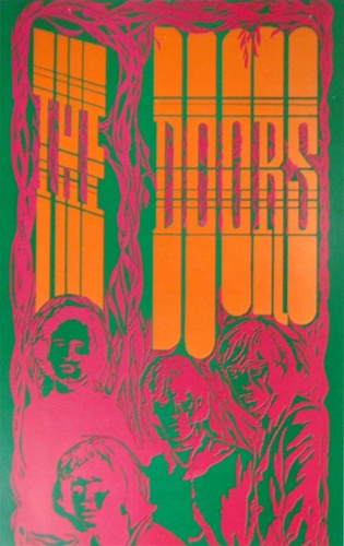 Saladin The Doors Original Rock Poster & Saladin The Doors Original Rock Poster Vintage Rock Poster