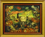 Kathy Schorr Strange Things are Seen Original Painting