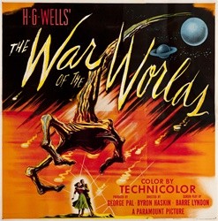 War Of the Worlds Original US Six Sheet