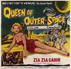 Queen Of Outer Space Original US Six Sheet