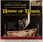House Of Usher Original US Six Sheet