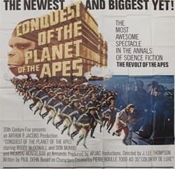 Conquest For The Planet Of The Apes Original US Six Sheet