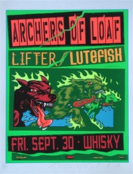 Taz Archers of Loaf Original Rock Concert Poster