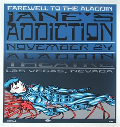 Taz Janes Addiction Original Rock Concert Poster