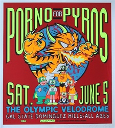Taz Pornos for Pyros Original Rock Concert Poster