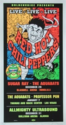 Taz Red Hot Chili Peppers Original Rock Concert Poster