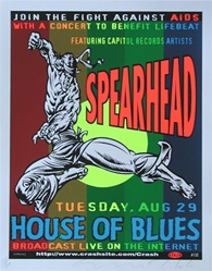 Taz Spearhead Original Rock Concert Poster