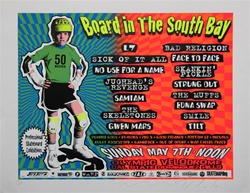 Taz Board In The South Bay Original Rock Concert Poster