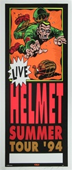 Taz Helmet Summer Tour Original Rock Concert Poster