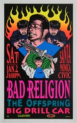 Taz Bad Religion and Offspring Original Rock Concert Poster