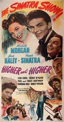Higher and Higher Original US Three Sheet