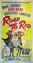 Road to Rio Original US Three Sheet