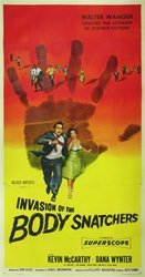 Invasion Of the Body Snatchers Original US Three Sheet