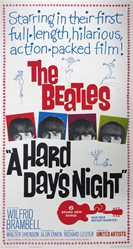 A Hard Day's Night US Three Sheet