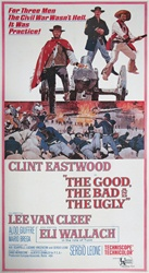 Good, The Bad And The Ugly Original US Three Sheet