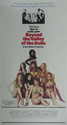 Beyond The Valley Of The Dolls Original US Three Sheet