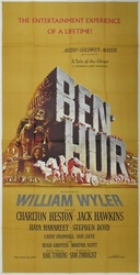 Ben Hur Original US Three Sheet