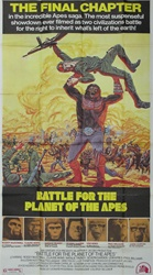 Battle For The Planet Of The Apes Original US Three Sheet