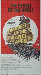 Conquest Of The Planet Of The Apes Original US Three Sheet