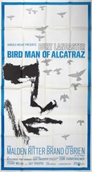 Bird Man Of Alcatraz Original US Three Sheet