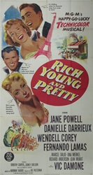 Rich, Young And Pretty Original US Three Sheet
