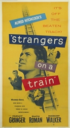 Strangers on a Train Original US Three Sheet