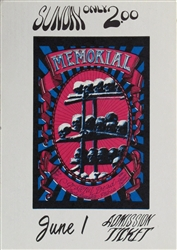 Memorial With The Grateful Dead And Charlie Musselwhite Original Ticket