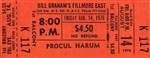 Procul Harum Original Fillmore East Concert Ticket
